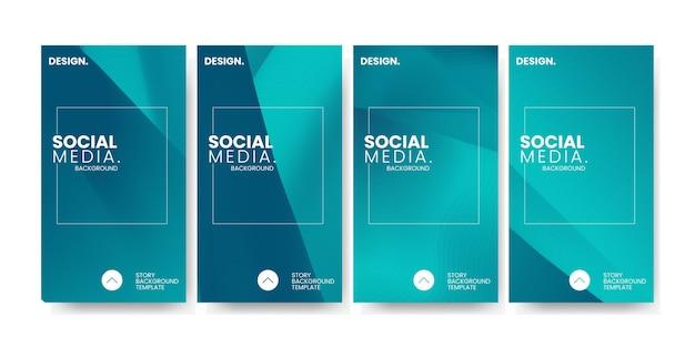 Trendy bunte farbverlauf für social media story template hintergrund