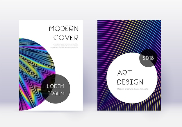 Trendy cover design template set