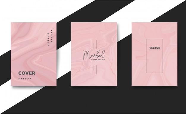 Trendy cover set liquid mix marmor textur modern