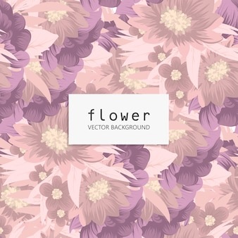 Trendy floral seamless pattern
