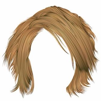 Trendy frau zerzauste haare blonde farben. schönheitsmode. realistisch