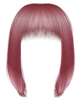 Trendy haare kupferrosa farben. kare rand. schönheitsmode