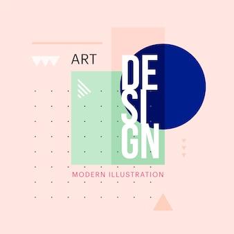 Trendy minimalistische geometrische form design