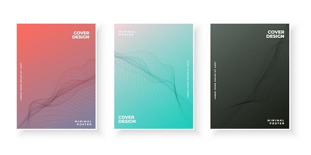 Trendy moderne farbverlauf deckblattvorlagen