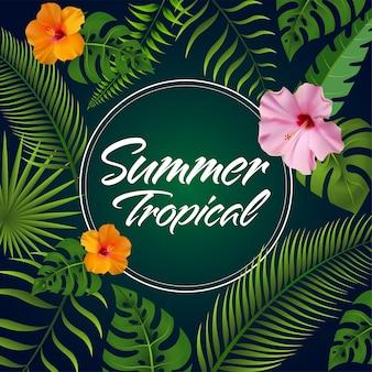 Trendy sommer hintergrund