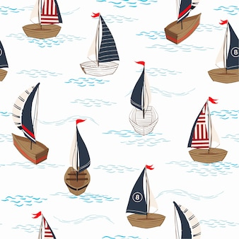 Trendy summer seamless pattern