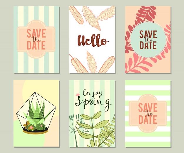 Trendy summer tropical oder floral banner gesetzt