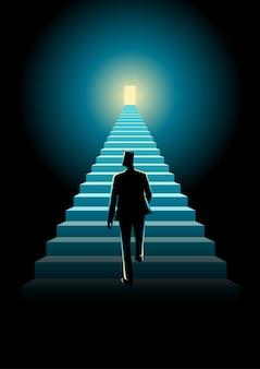 Treppe zum erfolg