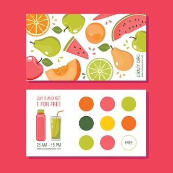 Treuekarte mit früchten
