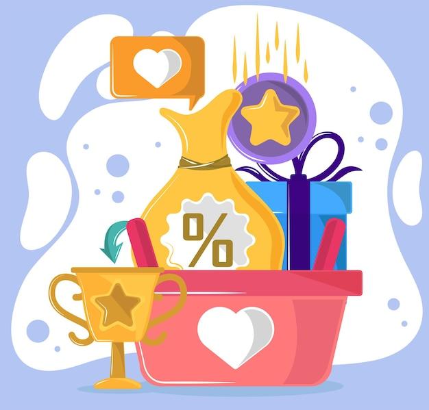 Treueprogramm und belohnung erhalten