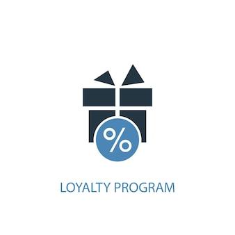 Treueprogrammkonzept 2 farbiges symbol. einfache blaue elementillustration. loyalitätsprogramm konzept symbol design. kann für web- und mobile ui/ux verwendet werden