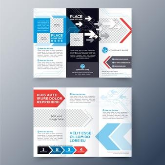 Tri fach pamphlet flyer design-layout-vorlage