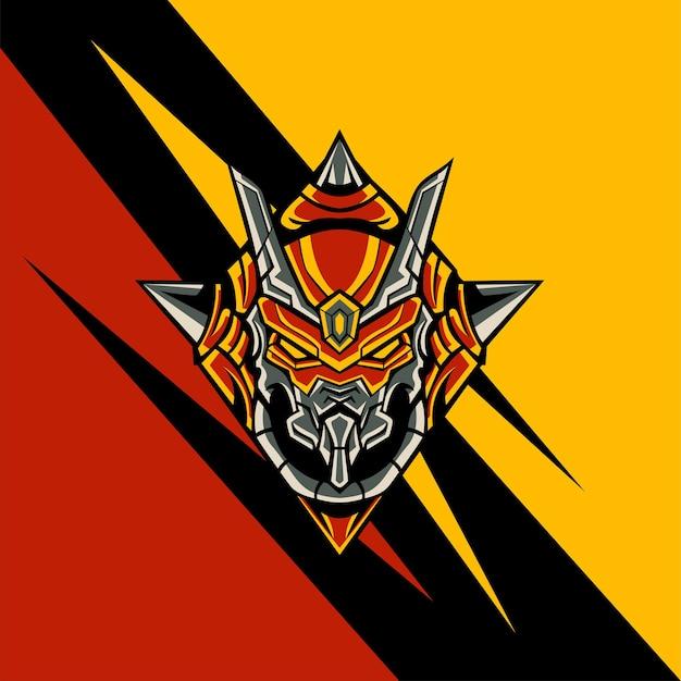 Triangle red squadron für logo-maskottchen-spiele oder andere