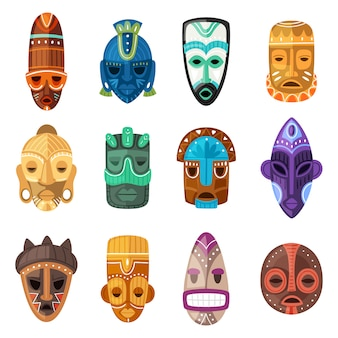 Tribal maskenset