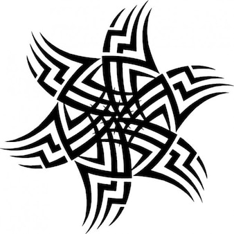 Tribal sun tattoo vorlage symbol vektor