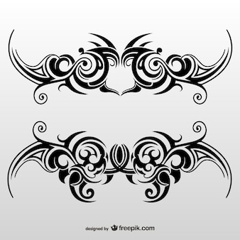 Tribal tattoo-kunst-set
