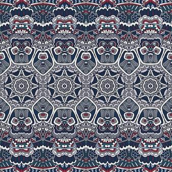 Tribal vintage abstrakte geometrische ethnische nahtlose muster ornamental pattern