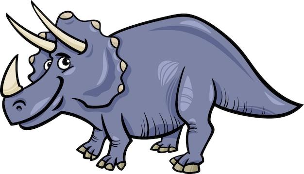 Triceratops-dinosaurierkarikaturillustration