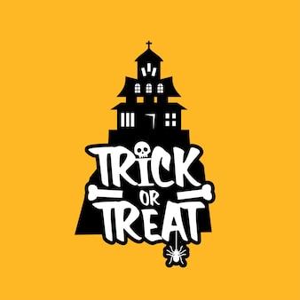 Trick o treat design-vektor