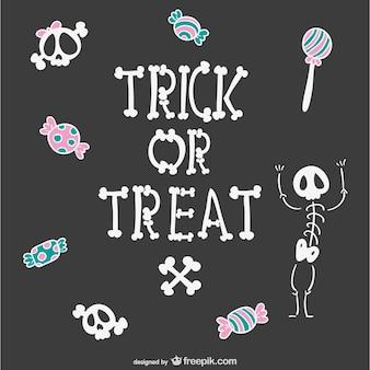 Trick or treat cartoon-hintergrund