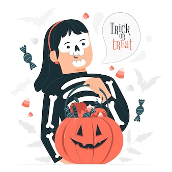 Trick or treat konzeptillustration