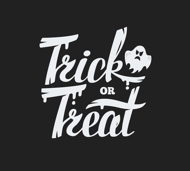 Trick or treat schriftzug hintergrund