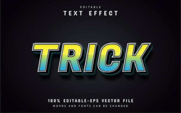 Tricktext, farbverlaufstext-effekt 3d