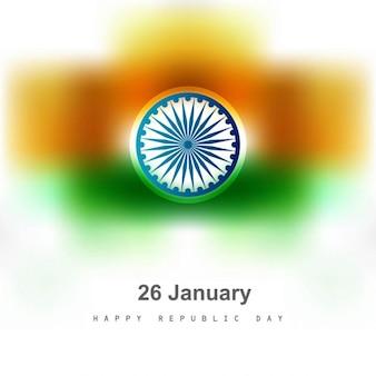 Tricolor indischen flagge unscharfen hintergrund