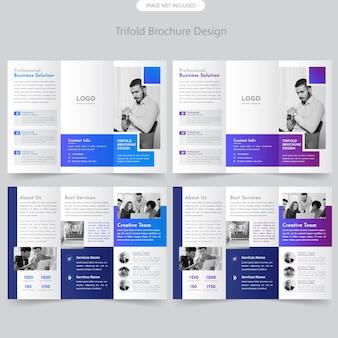 Trifold-broschüre der firma