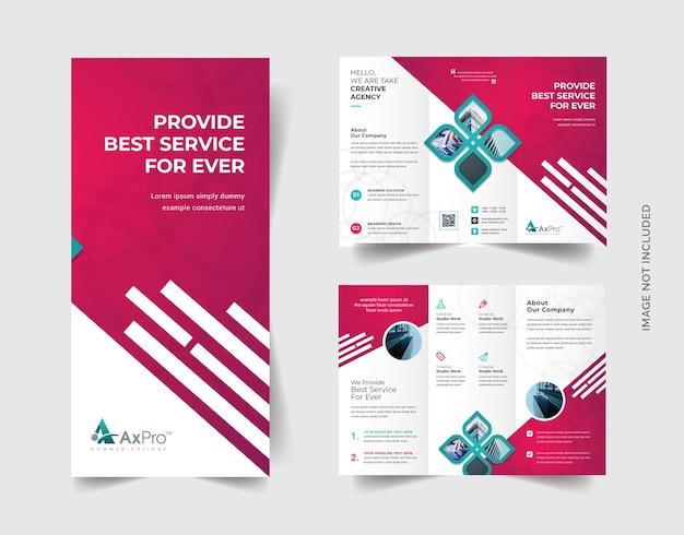 Trifold-broschüre mit elementen