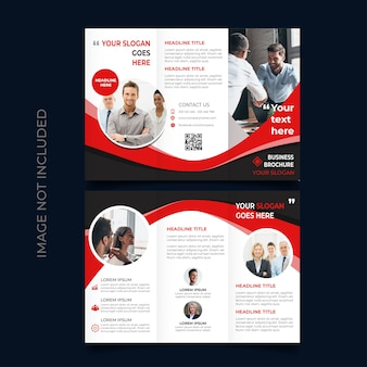 Trifold broschüre vorlage