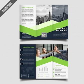 Trifold broschürenschablone des abstrakten designs