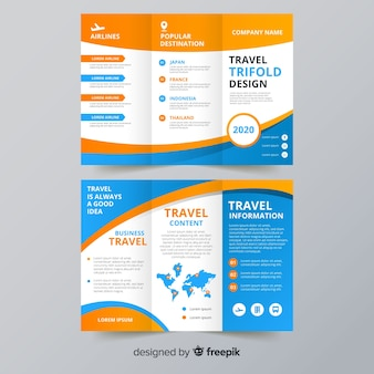 Trifold-flyer-vorlage für reisen