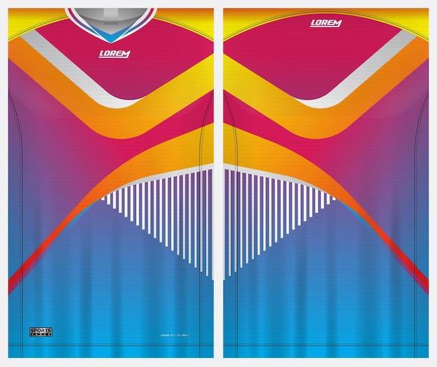 Trikot sport, fußball, badminton, läufer, uniform vorder- und rückansicht vorlage