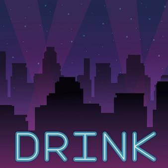 Trinken sie neonwerbung