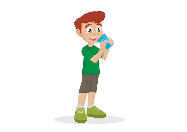 Trinkwasser des jungen.