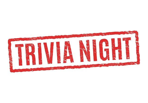 Trivia nacht hintergrund stempel quiz illustration design