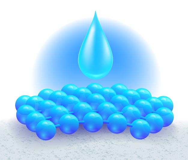 Trockenmittel-tabletten absorbieren wasser auf den gewebefasern.