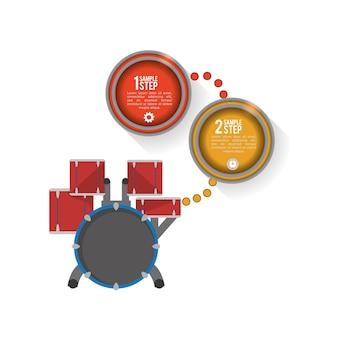 Trommelmusik sound infografik