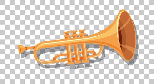 Trompete isoliert auf transparentem hintergrund