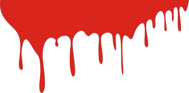 Tropfen blut getrennt auf weiß