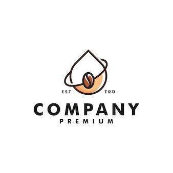 Tropfen kaffee logo design wasser symbol logo vektor