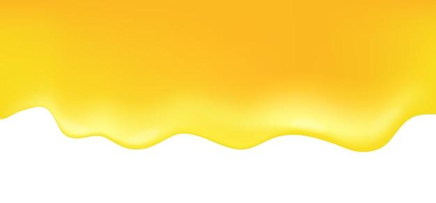 Tropfender honig auf weißem hintergrund. vektorillustration