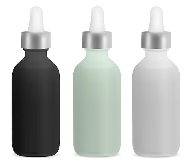 Tropfflasche mit ätherischen ölen kosmetische serumflasche