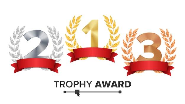 Trophy award set