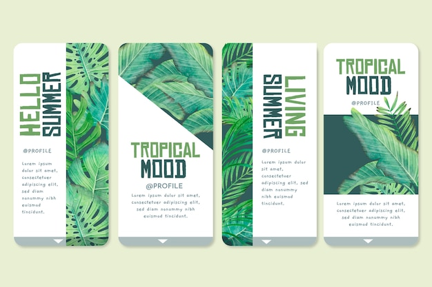Tropical app interface pack
