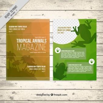 Tropical magazin mit exotischen tieren