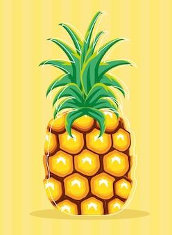 Tropische ananas saftige frucht frisch