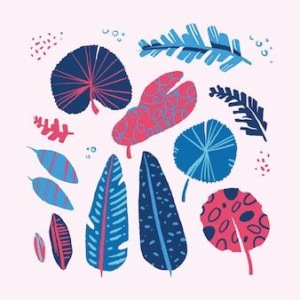 Tropische blätter des abstrakten entwurfs