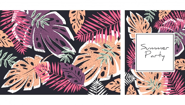 Tropische blätter muster